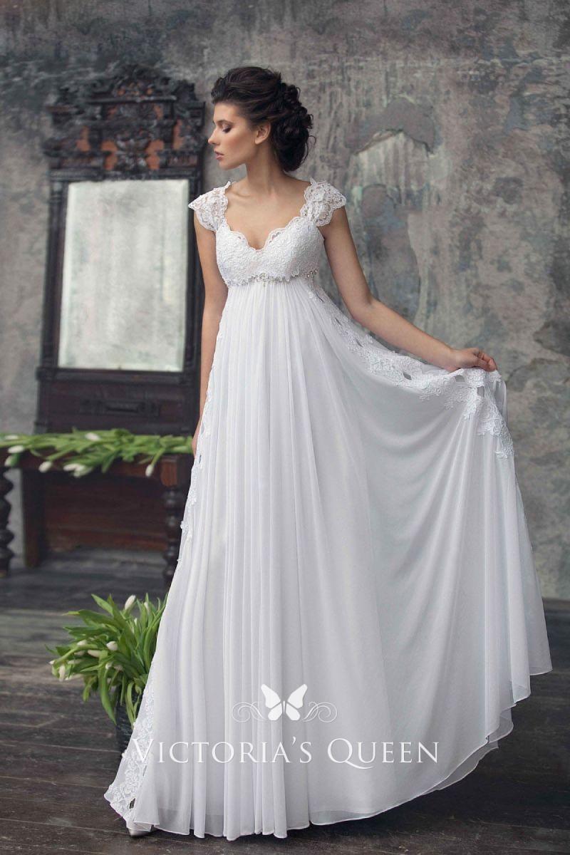Wedding Gowns for Slim Brides -Empire waist wedding gowns