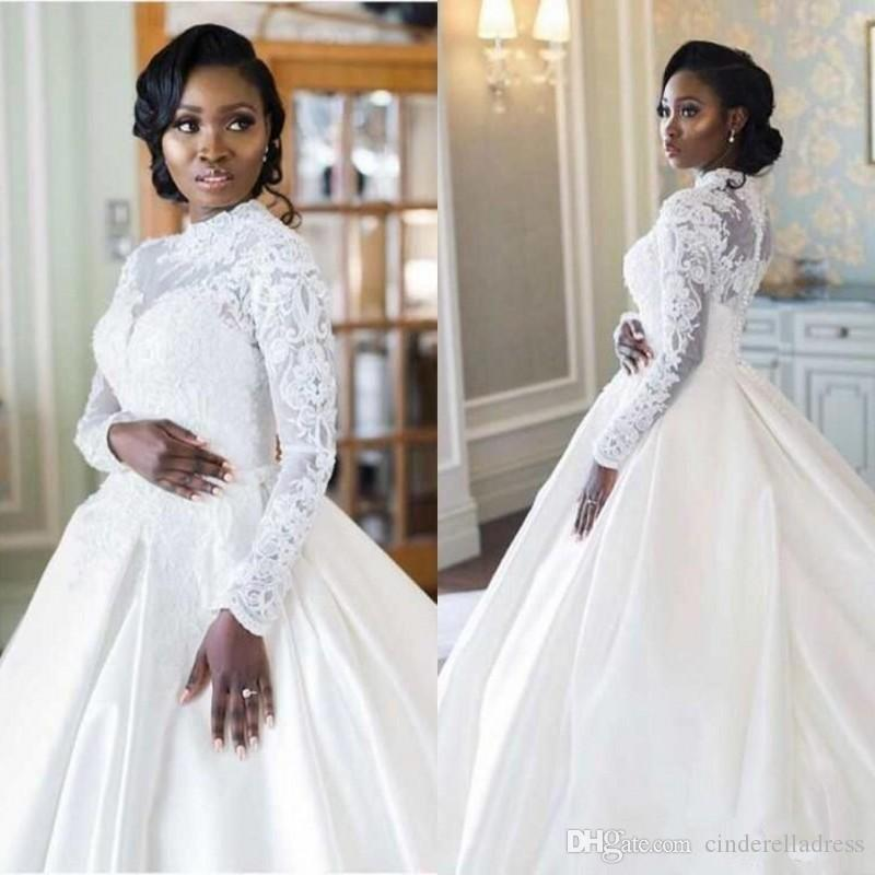 High neck wedding gowns