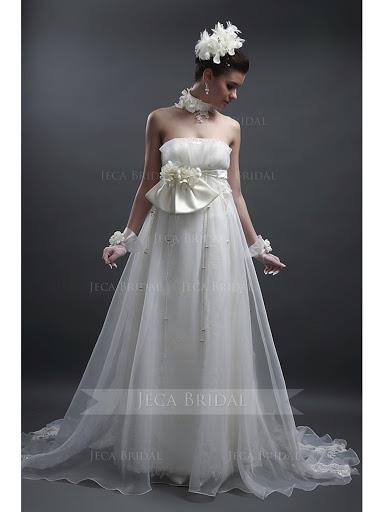 Wedding Gowns for Slim Brides Neckline Empire waist