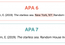 APA 6th and 7th Edition