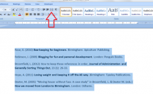 Organize Reference in Alphabetical Order