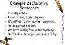 Declarative Sentence