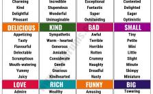 Descriptive Adjective