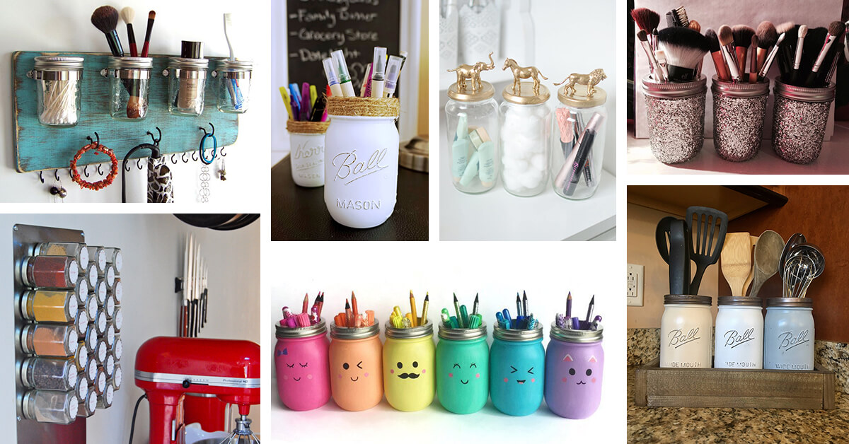 Jar supplies holder room decoration