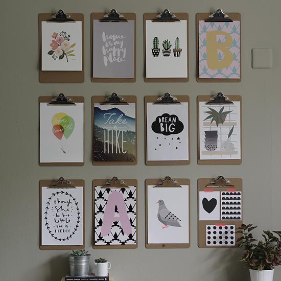 Photo clipboard room decoration