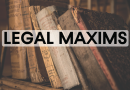 Legal Maxim And Their Meaning