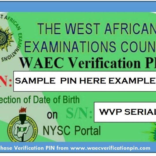 WAEC VERIFICATION PIN