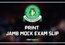 JAMB mock examination slip