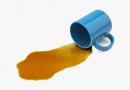 spilling liquid